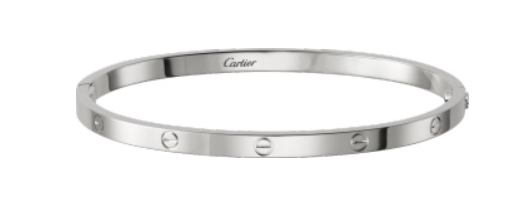 5. Small White Gold Cartier Love Bracelet £3750.00 available to purchase from    www.cartier.co.uk