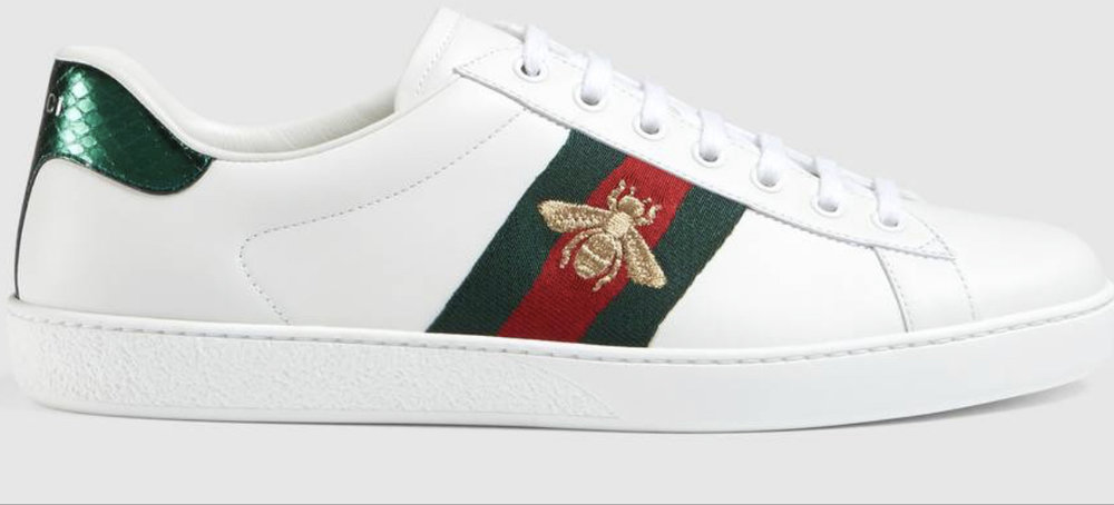 2. Gucci Embroidered Ace Trainers Sizes 4.5 - 14 £450 available to purchase from    www.gucci.com/uk