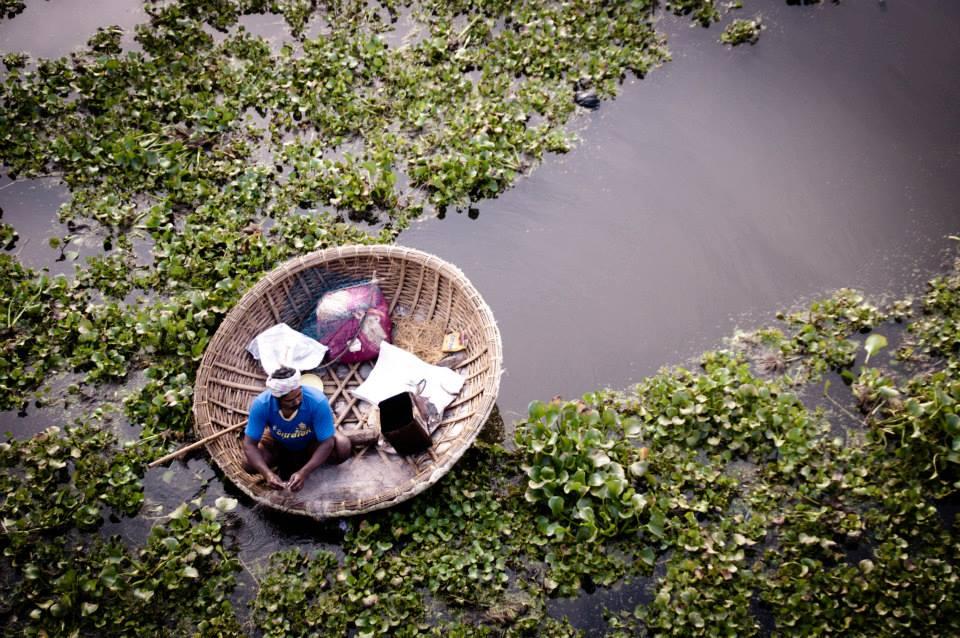 Coracle fishing boat  Hampi, India