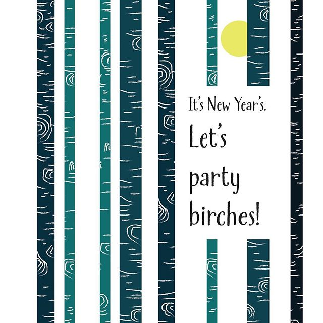 Have a wonderful New Year! #newyearseve #newyearsart #newyearnewadventures #arttomakeyousmile #newyearscard #etsyshop #peakandbirchdesigns #birchtree #birchtreeart #inspiredbynature #shopetsyhandmade  PeakandBirchDesigns link in bio