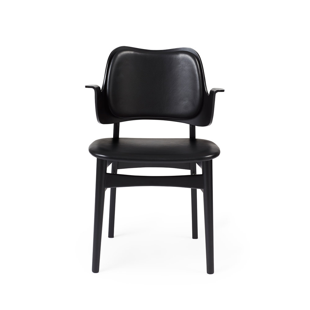 Gesture Chair - Black Lacquer/Seat & Back Upholstery