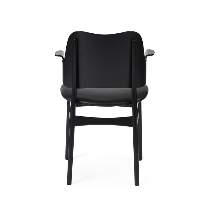 Gesture Chair - Black Lacquer/Seat Upholstery