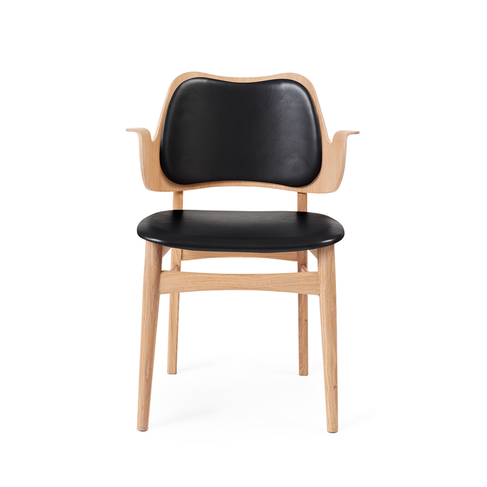 Gesture Chair - White Oiled Oak/Seat & Back Upholstery
