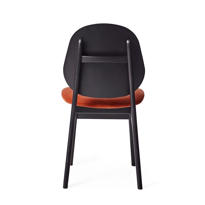 Noble Chair - Black Lacquer/Fabric Seat