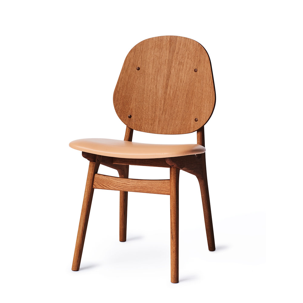 Noble Chair - Teak Oiled Oak/Leather Seat