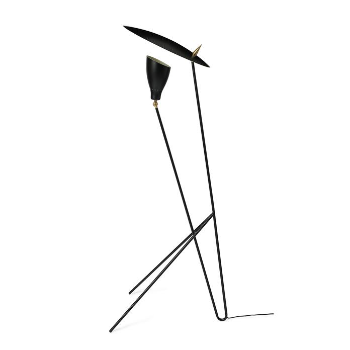 Warm Nordic Silhouette Floorlamp - Black Noir