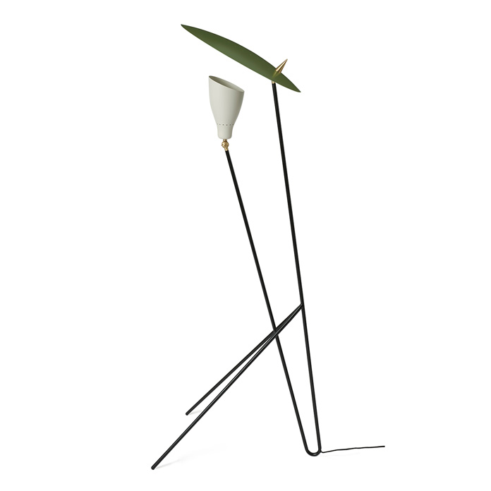 Warm Nordic Silhouette Floorlamp - Pine Green/Warm White
