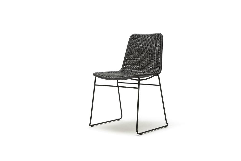 Indoor C607 Chair in Charcoal Rattan