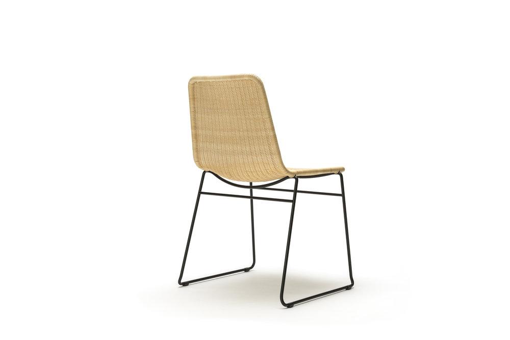 Indoor C607 Chair in Natural Rattan