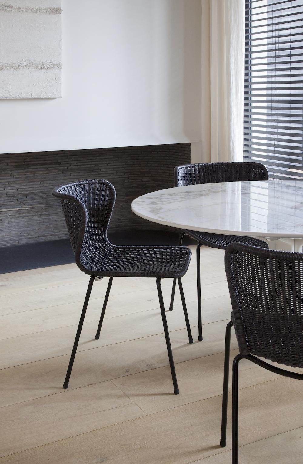 Indoor C603 Chair in Charcoal Rattan