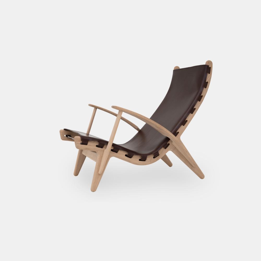 Klassik Studio King's Chair - Oak/Dark Brown