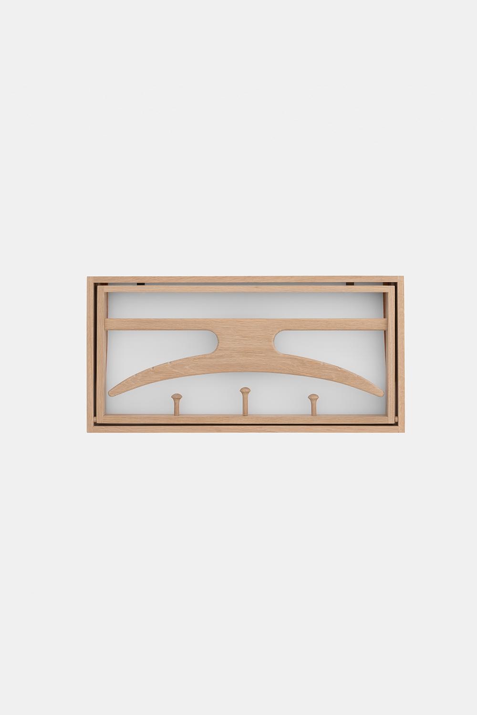 Klassik Studio Hanger - Soaped Oak/White