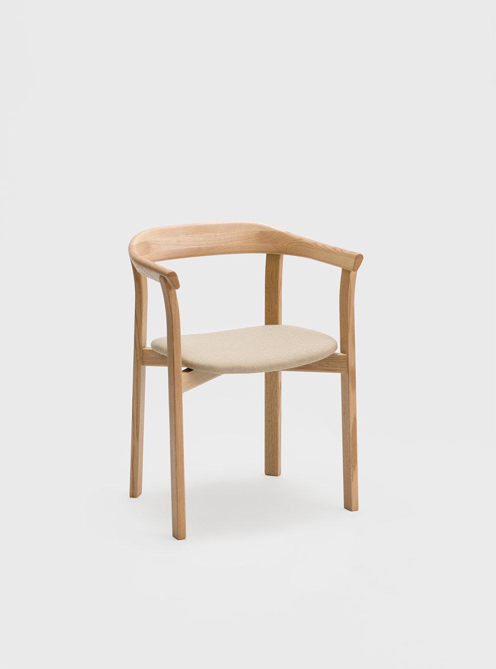 Ariake Holm Chair - Oak/Fabric Seat