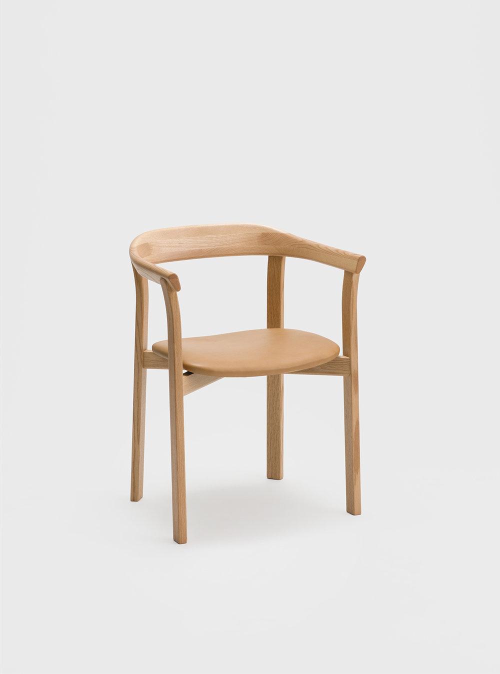 Ariake Holm Chair - Oak/Leather Seat