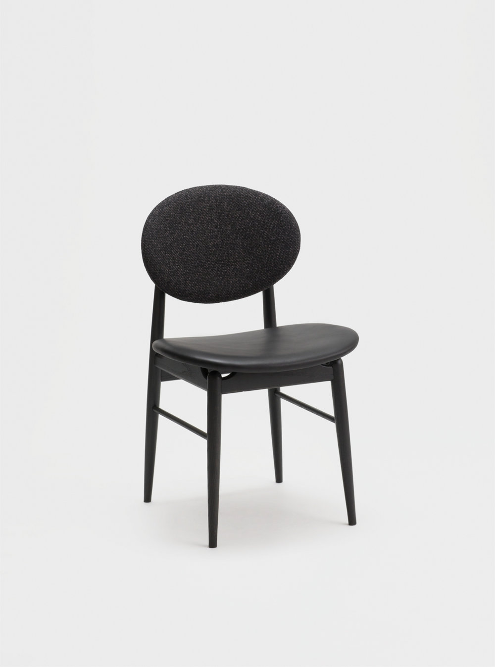 Ariake Outline Chair - Sumi Ash/Leather Seat & Fabric Back
