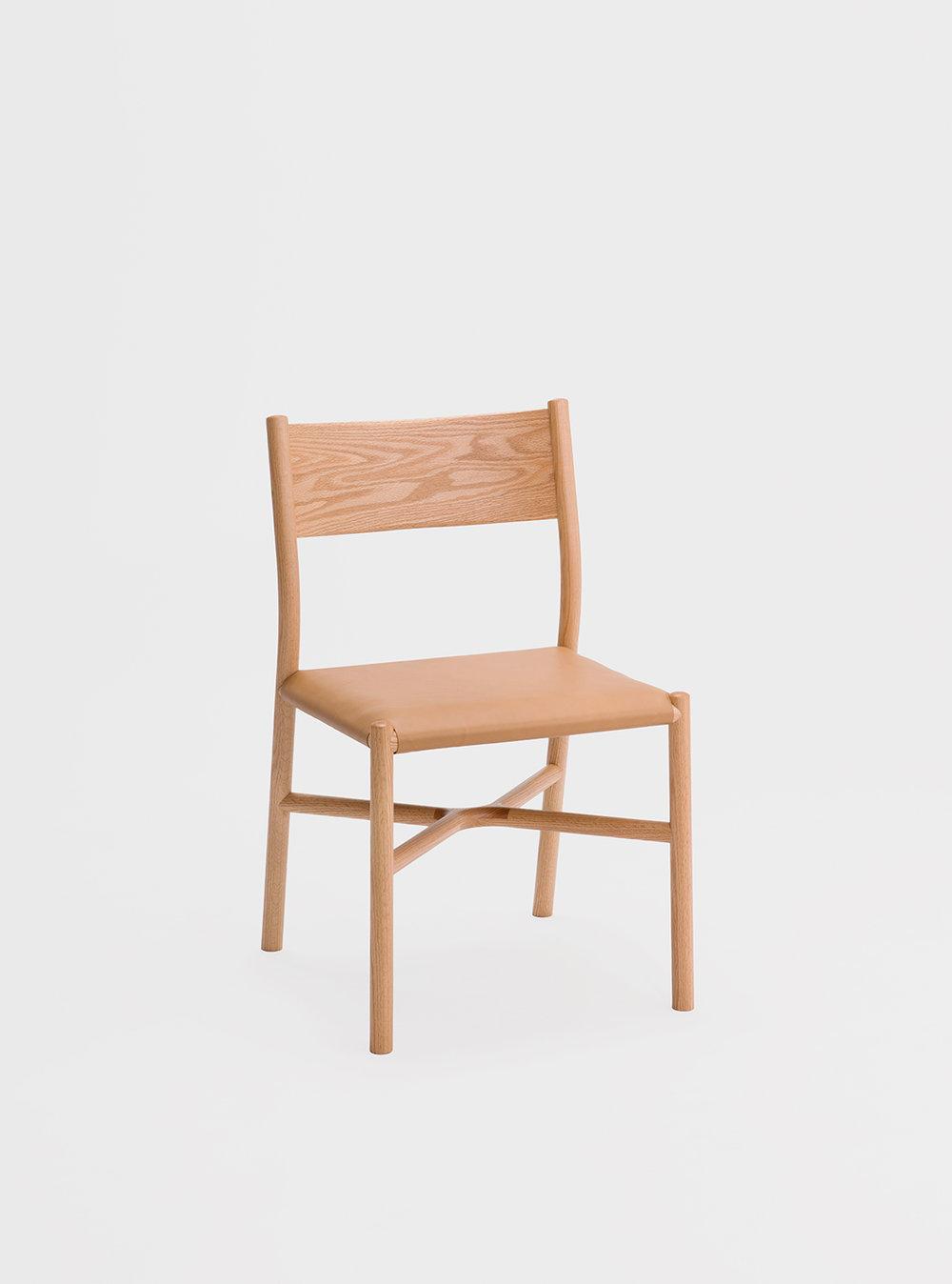 Ariake Chair - Oak/Leather Cushion