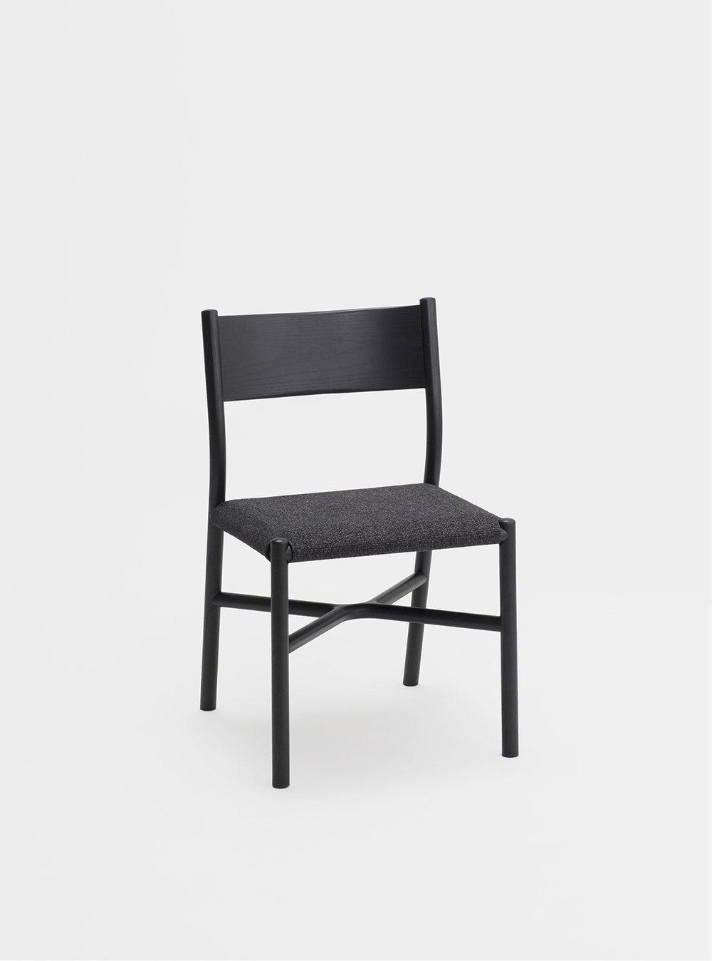 Ariake Chair - Sumi Ash/Fabric Cushion