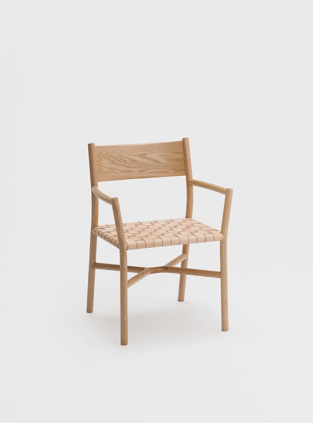 Ariake Armchair - Oak/Leather Strap