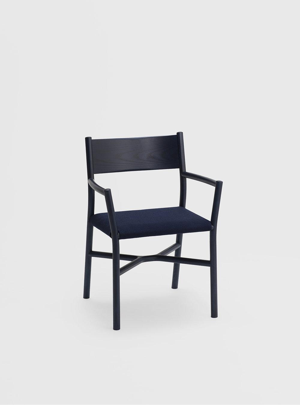 Ariake Armchair - Indigo Ash/Fabric Cushion