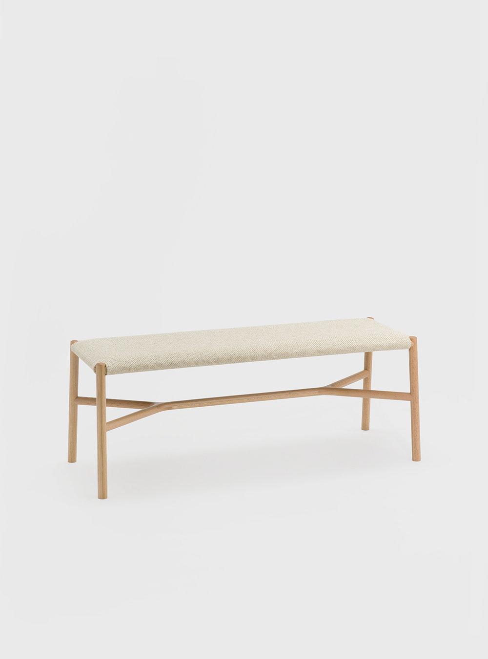 Ariake Bench - Oak/Fabric Cushion