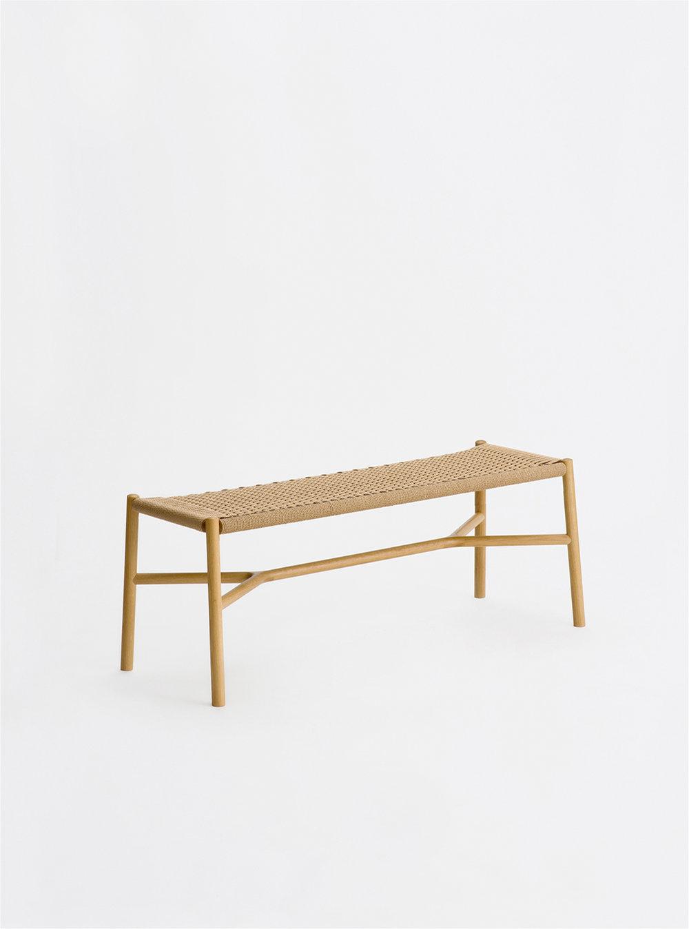 Ariake Bench - Oak/Papercord