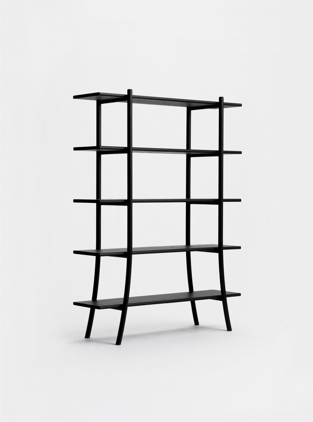 Ariake Skyladder Shelves - Sumi Ash/High