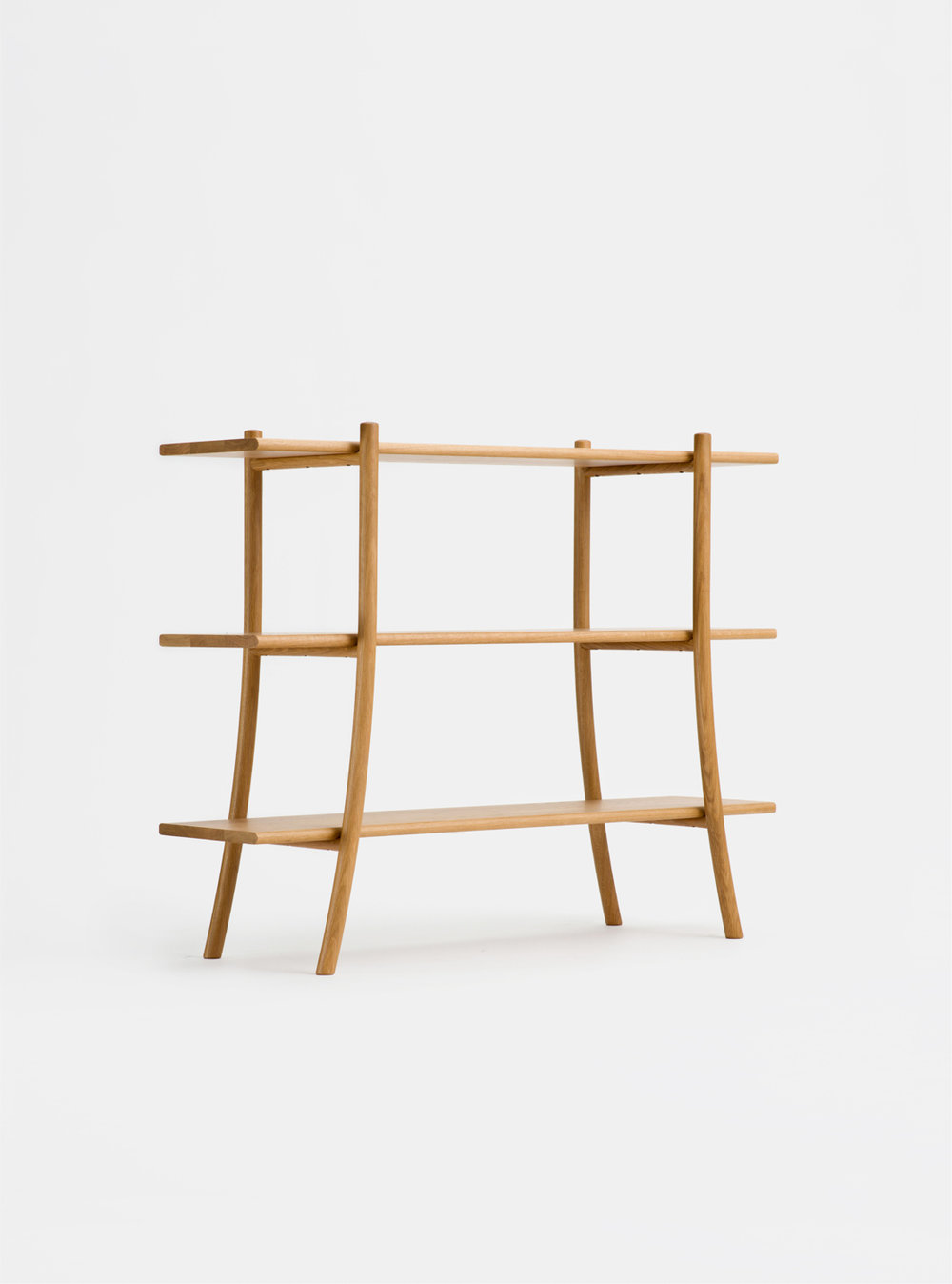 Ariake Skyladder Shelves - Oak/Low