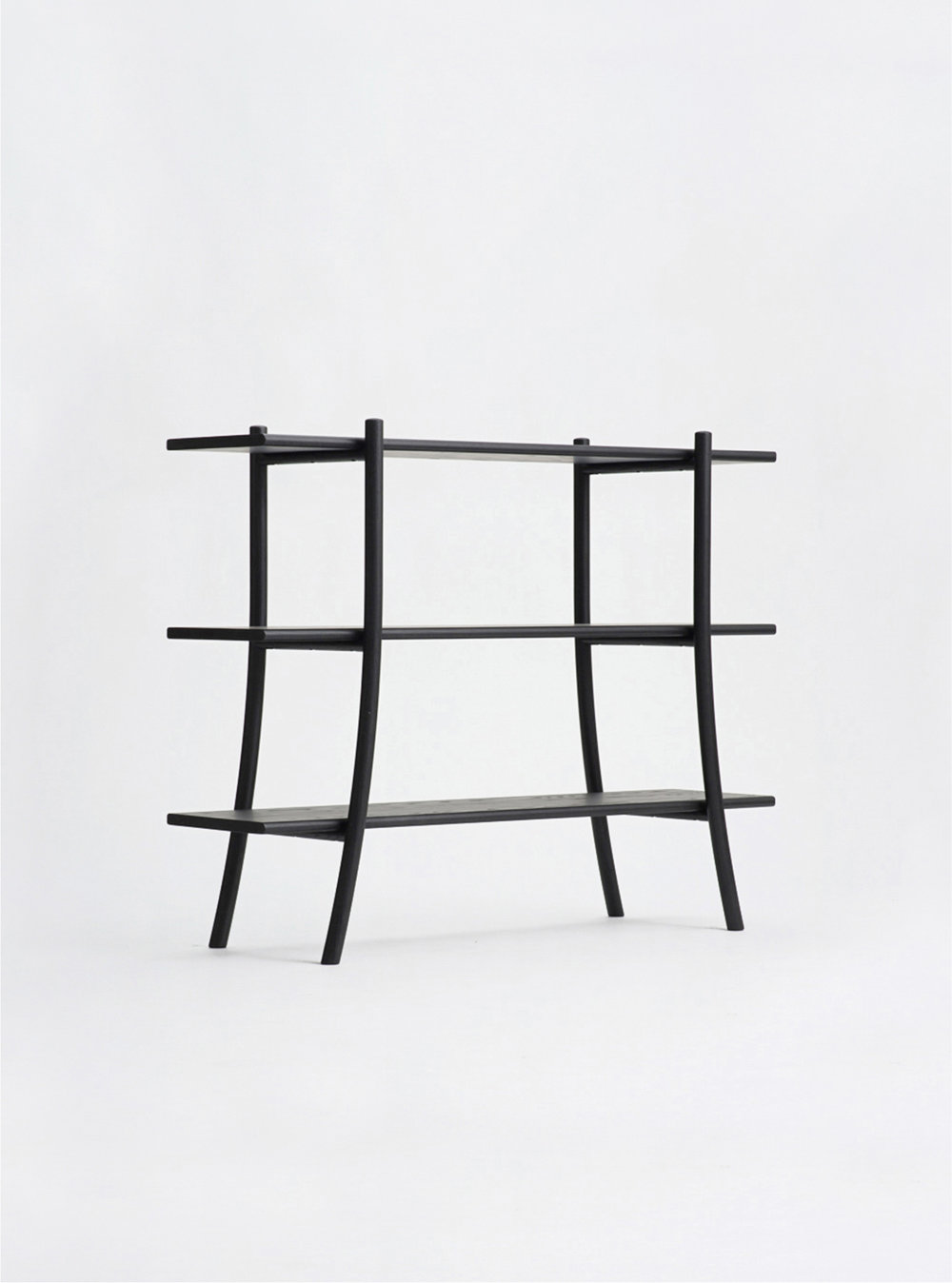 Ariake Skyladder Shelves - Sumi Ash/Low