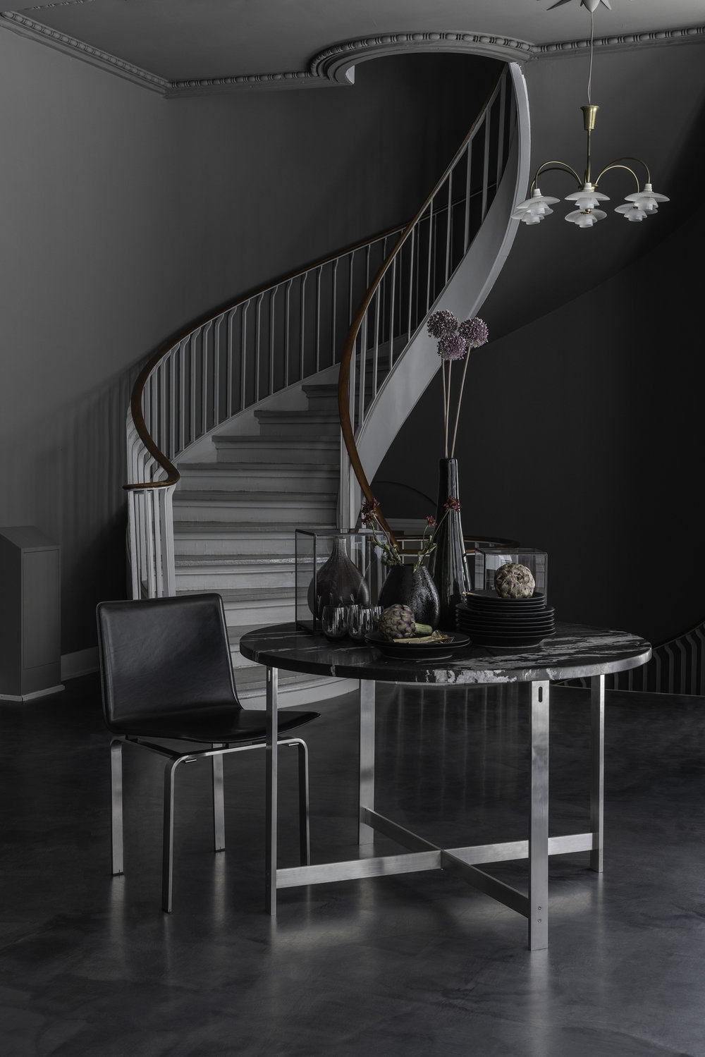 The JH3 Chair & JH Dining Table, by Jorgen Høj 1962