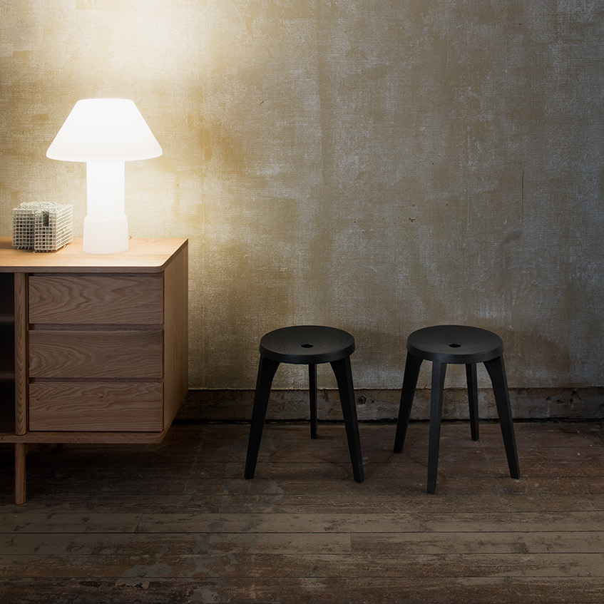 Ariake Dovetail Stools by Staffan Holm