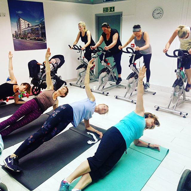 Our amazing and determined ladies being put through their paces at our #thursday 2pm #ride and #strength #class. #spin #indoorcycling #core #weights #strengthtraining ... Spaces are limited so make sure you book early and also put yourself down on the waitlist.