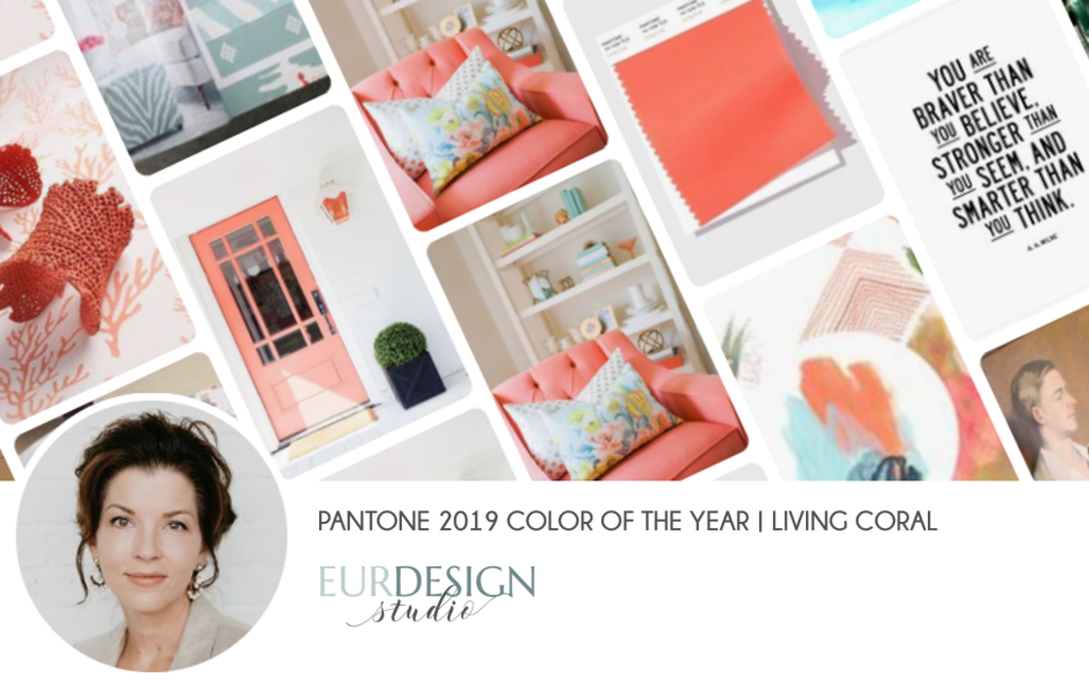 EurDesign Studio - Artful Living Blog- Pantone Color of the Year 2019 Living Color Pinterest