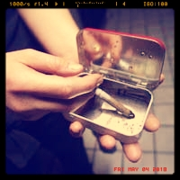 The Upcycle - Nothing beats an Old Altoid Box. These things are so handy for so many things at The Burn.