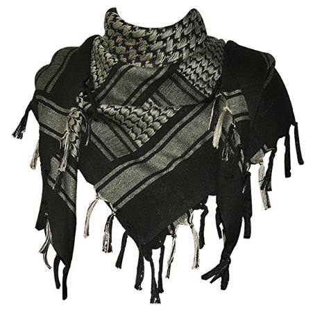 Classic Cotton Shemagh - This Middle Eastern scarf has been used for thousands of years in the desert for a reason. Extremely versatile clothing, mask, flag and more.