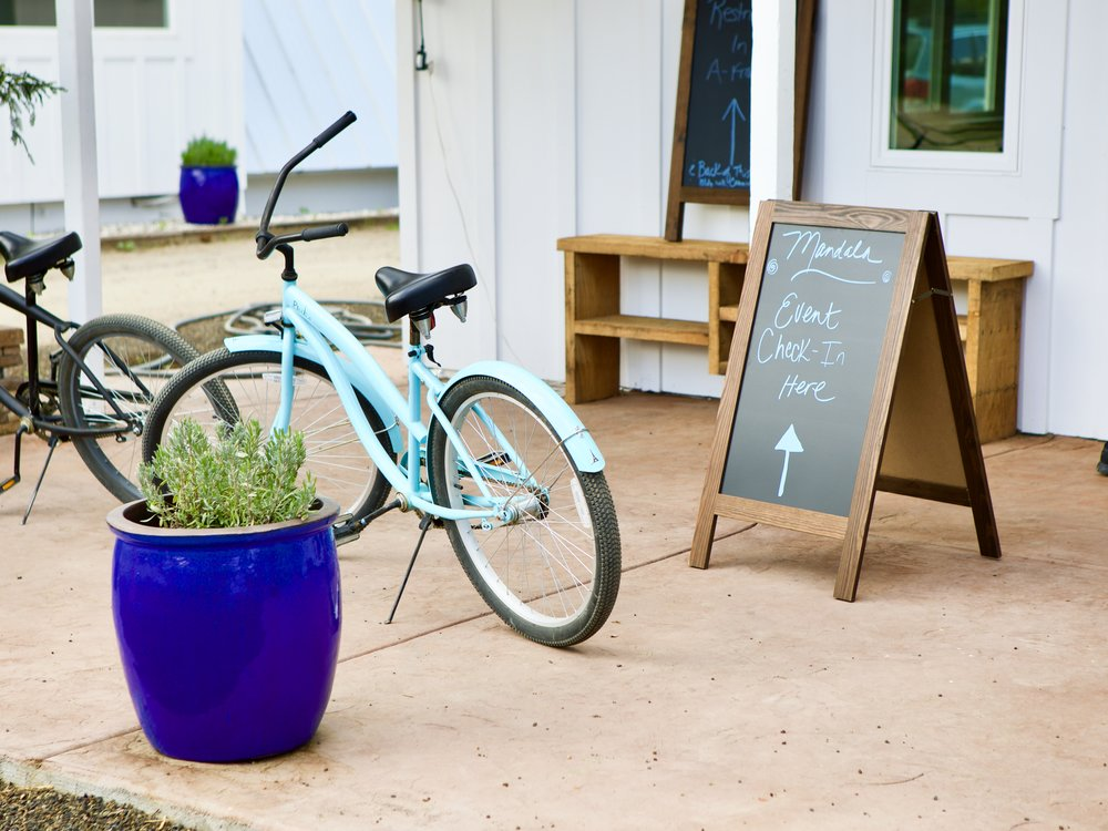 Take a ride around Mandala Springs' property on one of our cruiser bikes