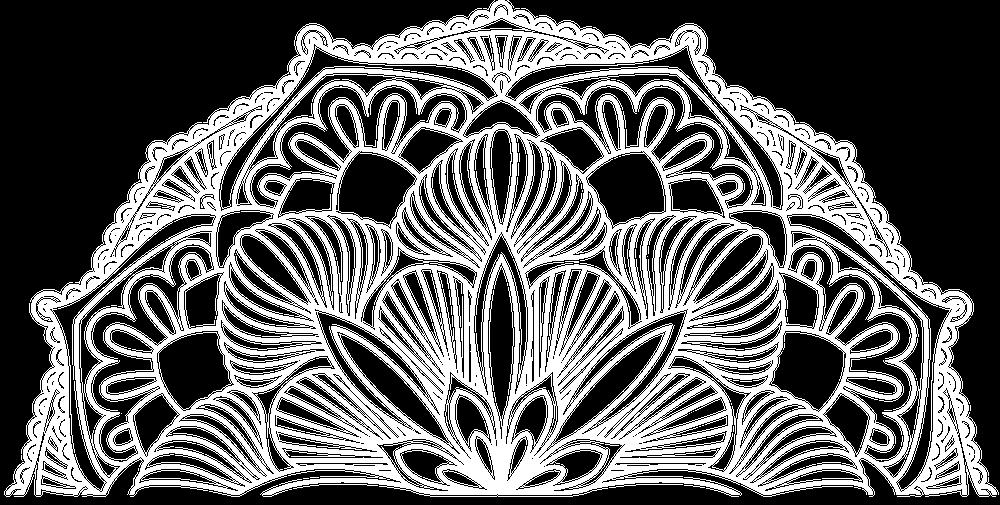 White Logo - Mandala Only.png