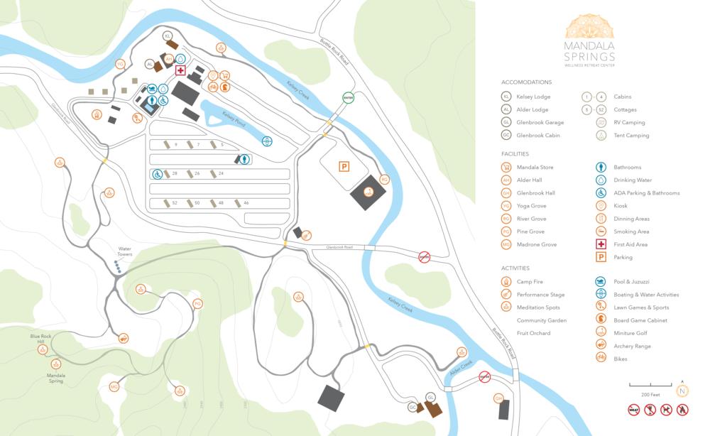 Map of Mandala Springs Campus