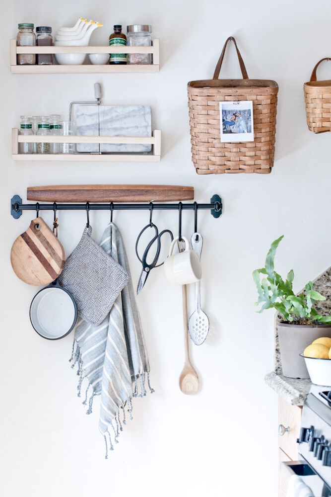 kitchen hooks and rails