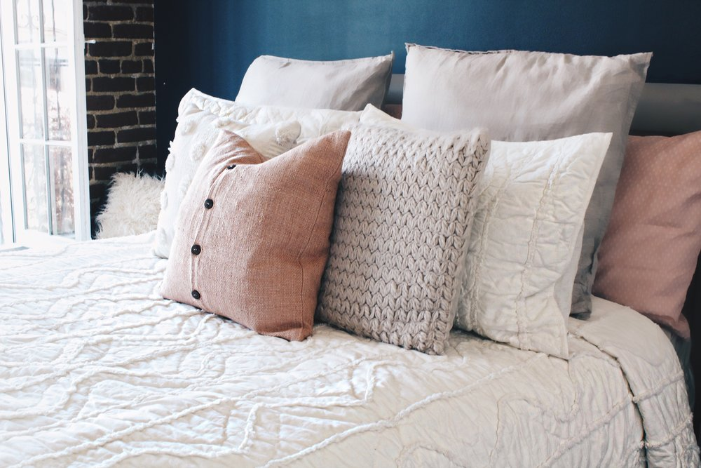 new pillows and spring bedding