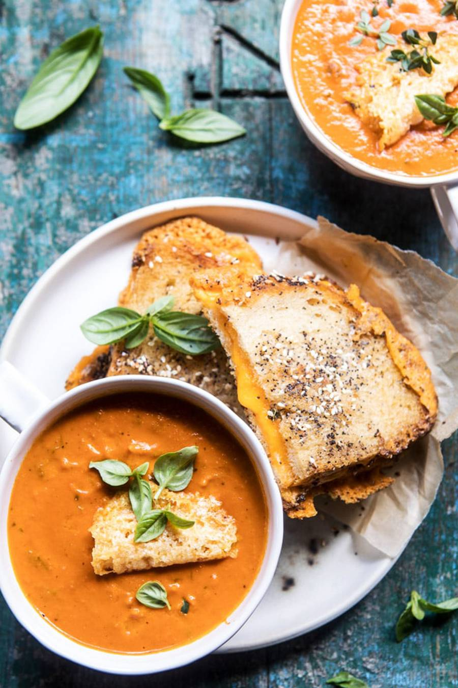 6 INGREDIENT CREAMY ROASTED TOMATO SOUP  -   Half Baked Harvest