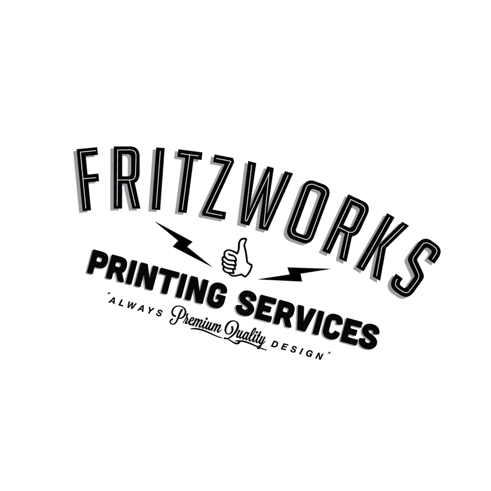 Fritzwork Circle Logo in white