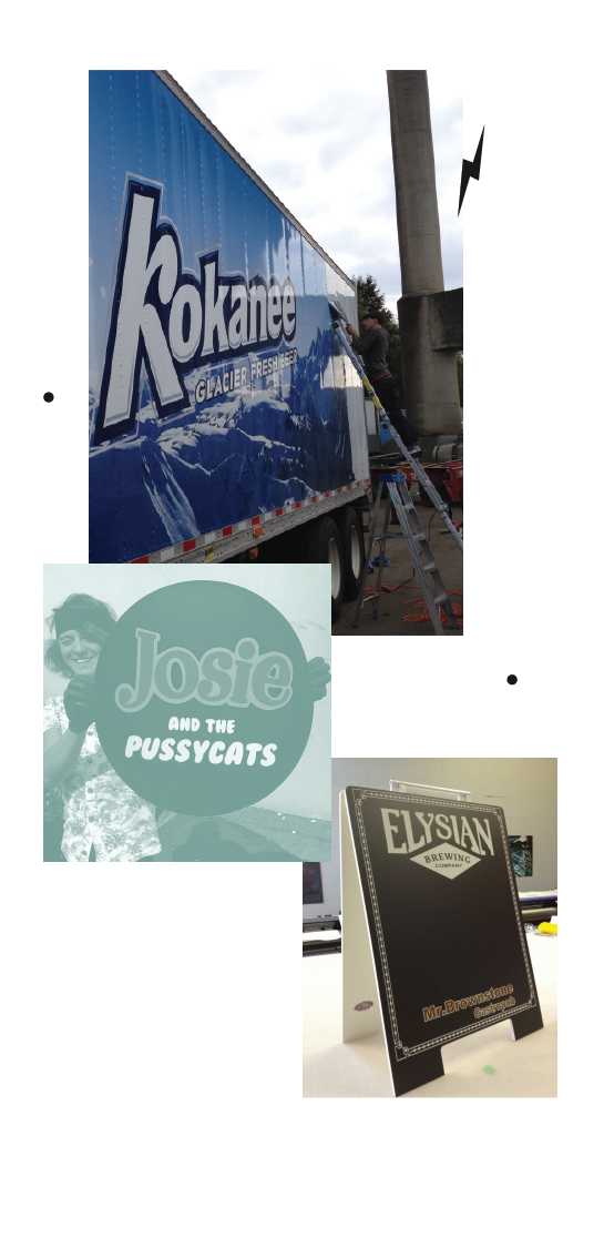 Truck wraps, sandwich boards and other examples of outdoor printing from Fritzworks Printing