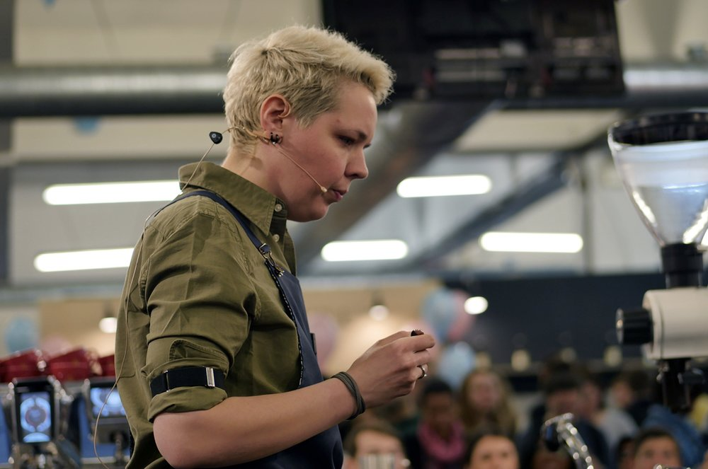 """""""I always wanted to stay in this state of mind - that my gender doesn't matter, that if I'm good enough I will be great on stage. In Poland, women were winning barista competitions for the past 10 years since 2008."""""""