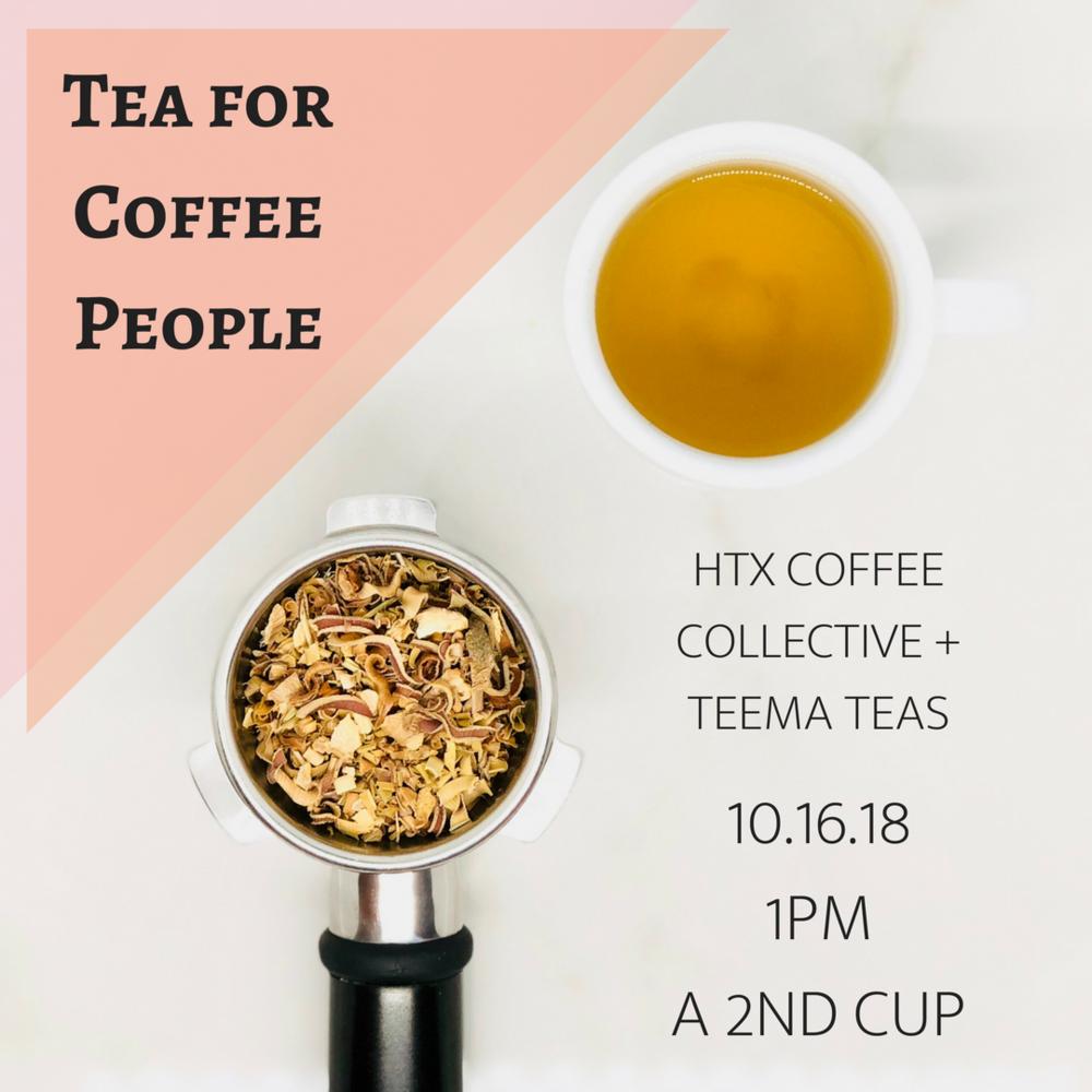 Tea for Coffee People - foundation of tea workshop
