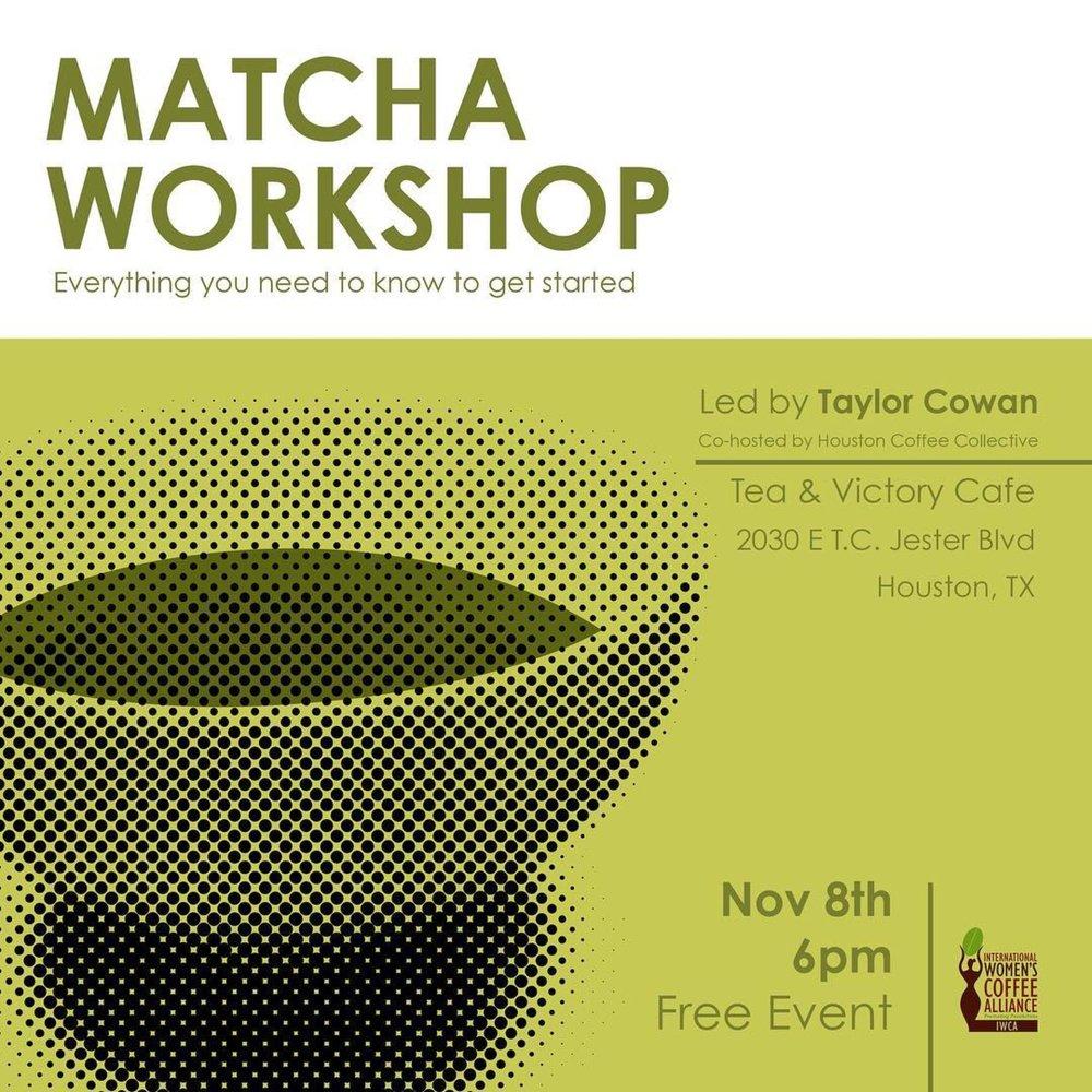 - Matcha Workshop with Spirit Tea