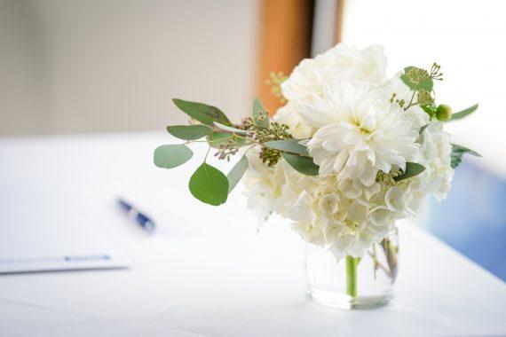 Stunning White September Wedding Budget Blooms