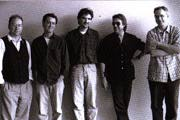 (from left to right: Wayne Horvitz, Greg Leisz, Viktor Krauss, Jim Keltner & Bill Frisell)