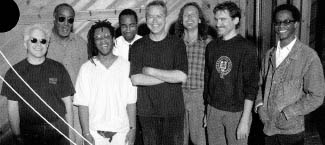 from left to right: Billy Drewes, Curtis Fowlkes, Don Byron, Ron Miles, Bill Frisell, Lee Townsend, Viktor Krauss, Brian Blade