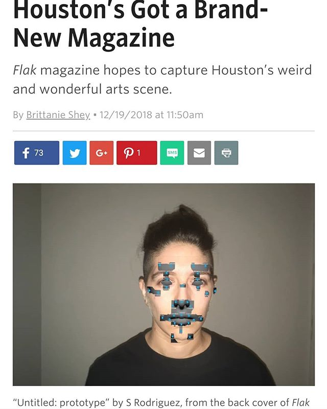 Holy Moly, it's Flak in @houstoniamag! We're bummed Elizabeth couldn't make it to the interview but super grateful for Brittanie Shey's time and attention! #linkinbio  ___ #flakmagazine #letcreativityhappen18 #artspublication #houston #houarts #htx