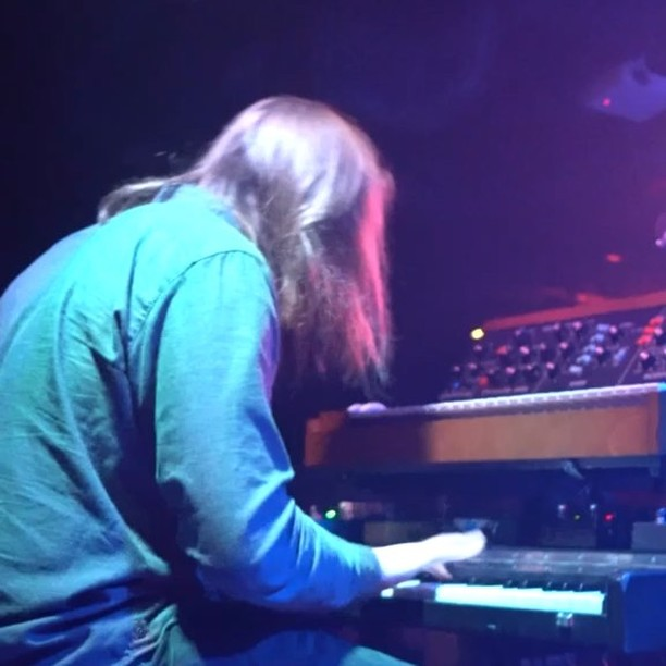Mr. Michael Hunter aka @hipmodus last night in DC #pianet @moogsynthesizers #modeld @earthquakerdev